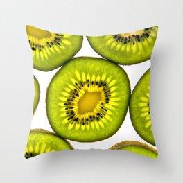 KiwiFruit slices Throw Pillow