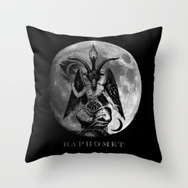 Baphomet Moon Throw Pillow