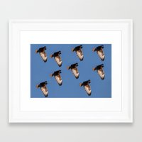 hawk Framed Art Prints featuring Hawk by Mark Alder