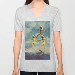 On Evil Beach - Shark Attack Unisex V-Neck