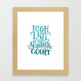 High Lady Summer Court ACOTAR Framed Art Print
