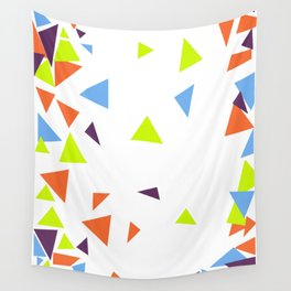 Colorful Triangles Wall Tapestry