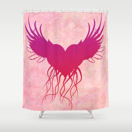 Give wings to my heart Shower Curtain