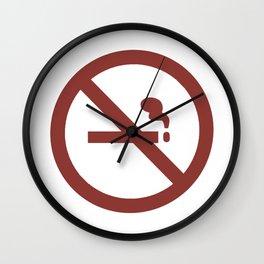 NO SMOKING SIGN Wall Clock
