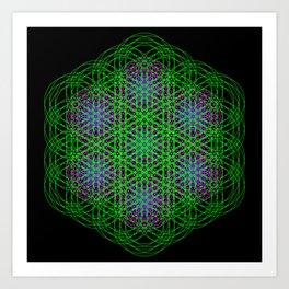 Trippin Circles Art Print