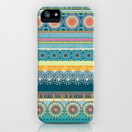Blue Streaks iPhone Case