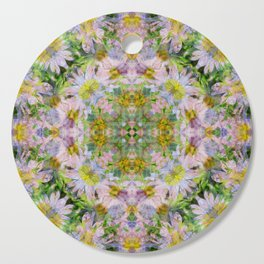 DAISEY MADNESS ABSTRACT  Cutting Board