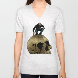Leroy And The Giant's Giant Skull Unisex V-Neck