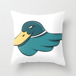 Green Mallard Throw Pillow