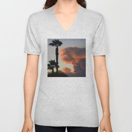 Fire Cloud (Pyrocumulus Cloud) in Cherry Valley, California Unisex V-Neck