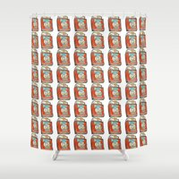 popeye Shower Curtains featuring Popeye Smokes 2.0 by Snack Paintings