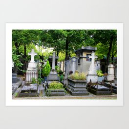 Long forgotten in Montparnasse Art Print