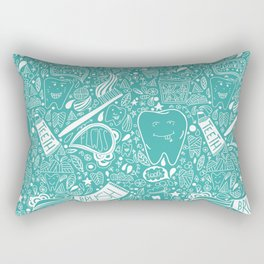 Happy Doodle Teeth Rectangular Pillow