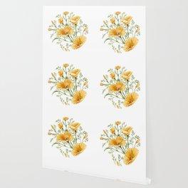 California Poppies - Watercolor Painting Wallpaper