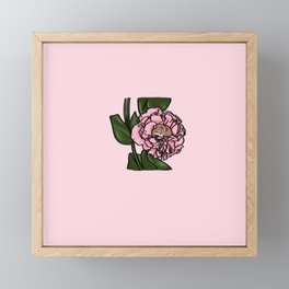 stop and smell the roses Framed Mini Art Print