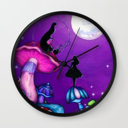 Alice in Wonderland and Caterpillar Wall Clock