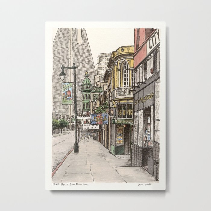 North Beach, SF Metal Print