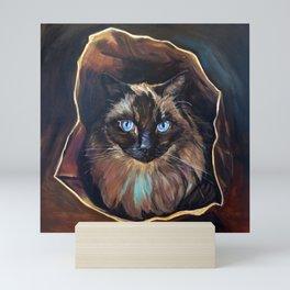 The Ragdoll Cat Is in the Bag Mini Art Print