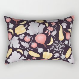 Vegetables (dark) Rectangular Pillow