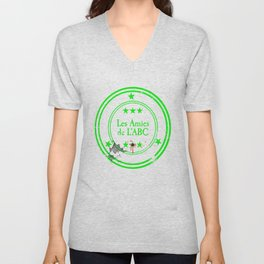 ABC Green Unisex V-Neck