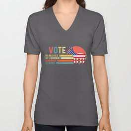 Anti Trump Vote Democrat Liberals 2020 Election Political Detergent Funny Vintage T Shirt Unisex V-Neck