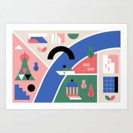City Map Fragment VI Art Print