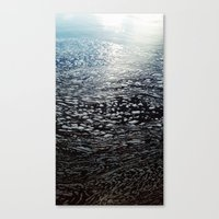 ombre Canvas Prints featuring Ombre by Amy Muir
