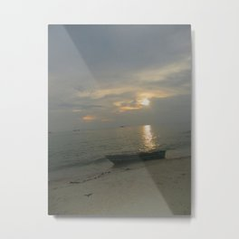 Calm and Cloudy Metal Print