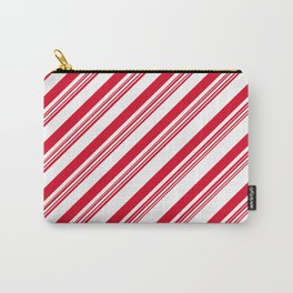 Red Candy Cane Stripes Carry-All Pouch
