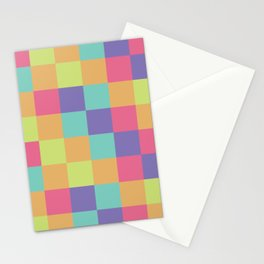 Kids abstract geometry pattern Stationery Cards