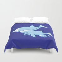 dolphins Duvet Covers featuring Dolphins by joanfriends