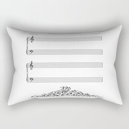 The Sound of Silence (Mono) Rectangular Pillow
