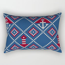 Grandma's knitting pattern for Saylor's Ugly sweater Rectangular Pillow