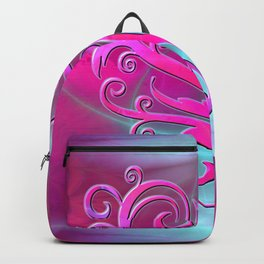 Poetic Heart (hot pink-shell) Backpack