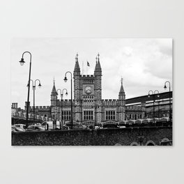 Temple Meads Train Station B&W Canvas Print