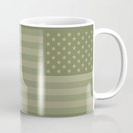 Camo Stars and Stripes – USA Flag in Military Camouflage Colors [FalseFlag 1] Coffee Mug