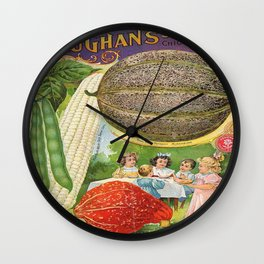 Vintage poster - Vaughan's Seed Store Wall Clock