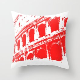 Way of the Warrior - Roman Colosseum Throw Pillow
