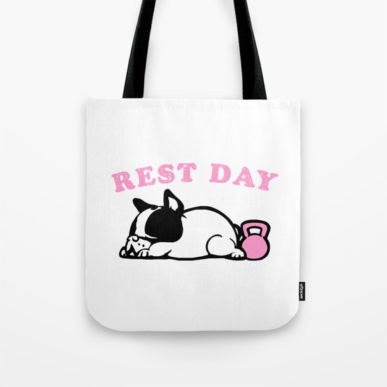 Rest Day Frenchie Tote Bag