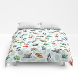 Sea Animal Aqua Party Comforters