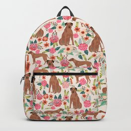Rhodesian Ridgeback floral dog breed gifts pure breed must have dog pattern Backpack