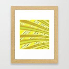 Fractal Play in Citruslicious Framed Art Print