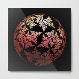 3D Fractal Sphere Metal Print