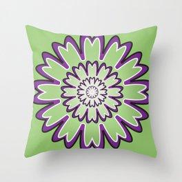 Focusing Mandala - מנדלה התמקדות Throw Pillow