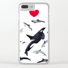 I love dolphins Clear iPhone Case