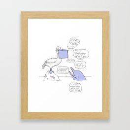 Pelican Roommate Framed Art Print
