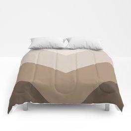 Brown Taupe Chevron Stripes Comforters
