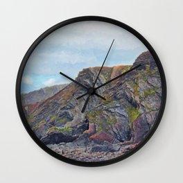 Hartland Quay Cliffs Wall Clock