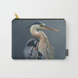 Great Blue Heron in Profile Carry-All Pouch