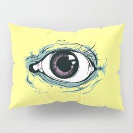 """I See You"" Yellow Pastel Pattern Pillow Sham"